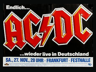 """ACDC German 16"""" x 12"""" Photo Repro Concert Poster"""