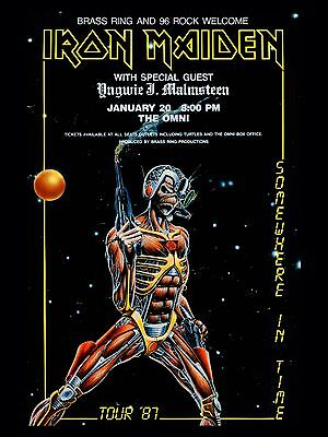 """Iron Maiden The Omni 1987 16"""" x 12"""" Photo Repro Concert Poster"""
