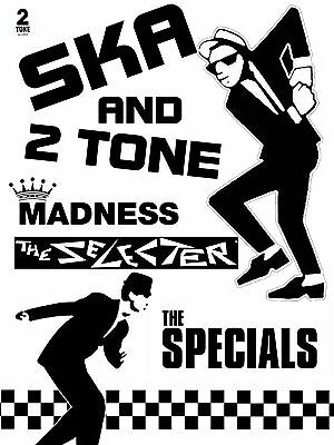 """Ska and two tone 16"""" x 12"""" Photo Repro Promo Poster"""