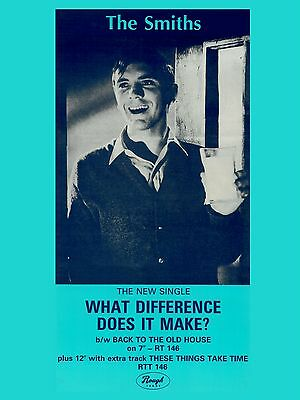 """The Smiths WHAT DIFFERENCE DOES IT MAKE 16"""" x 12"""" Photo Repro Promo  Poster"""