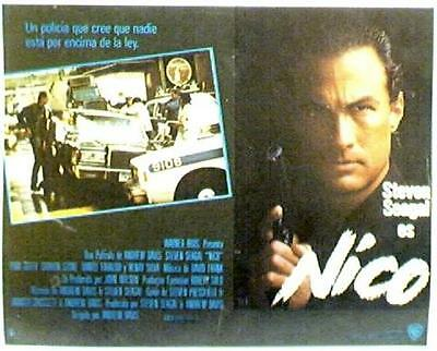 Steven Seagal, Sharon Stone ABOVE THE LAW LOBBY CARD 88