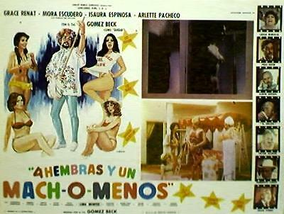 TOPLESS SEXY Grace Renat MEXICAN LOBBY CARD, 1979
