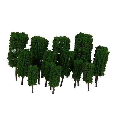 50Pcs/lot Model Trees Train Railway Wargames Park Scenery Layout 1:300 Green