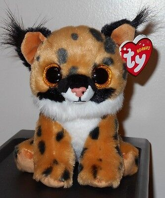 """Ty Beanie Baby ~ LARRY the 6"""" Lynx / Cat ~ Plush Toy (NEW) 2017 Design ~ IN HAND"""