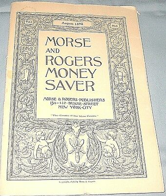 Antique 1898 Morse and Rogers Money Saver Shoe Advertising Publication-Vol 5, #8