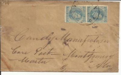 Confederate States of America Sc#7(pair) FORT VALLEY(Peach County)GEORGIA