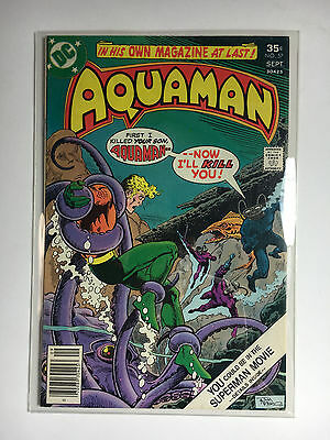 Aquaman #57 F/VF DC comic 1977 Black Manta cover