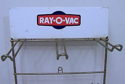 Vintage RAYOVAC Ray-O-Vac Advertising Sign Store  COUNTER DISPLAY Stand/Rack