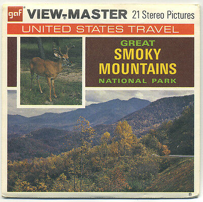 The Great Smoky Mountains National Park GAF View-Master Packet A-889-B edition