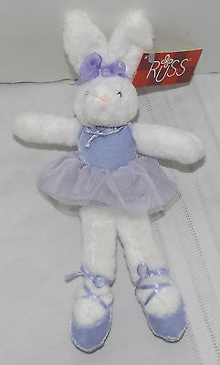 Russ Tulip Toes Ballerina Bunny Rabbit purple outfit plush stuffed toy w/tag 10""