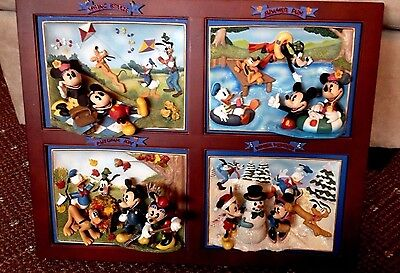 Disney/Bradford  Mickey Mouse Seasons of Friendship 4 Plate Collectible Rare