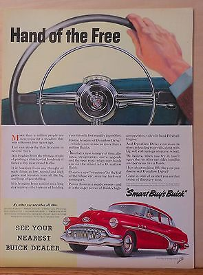 Vintage 1951 magazine ad for Buick - Dynaflow Drive, Hand of the Free