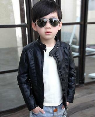 new Children's Spring and Autumn boys PU leather motorcycle jacket coat