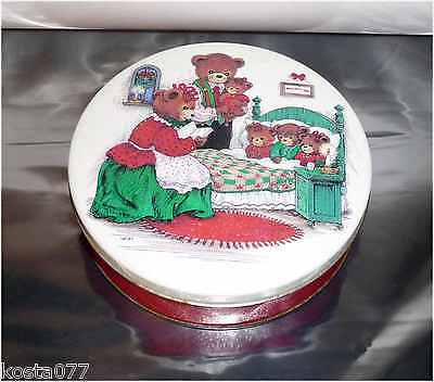Vintage Tin Can, PEANUT BUTTER BEARS #225 CONFECTIONARY, WIM