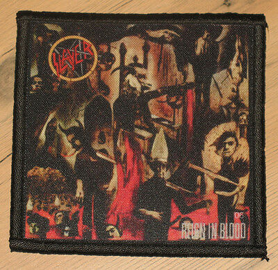 """SLAYER """"REIGN IN BLOOD"""" silk screen PATCH"""