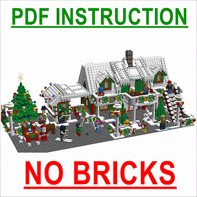 Lego Custom BIG HOLIDAY CHRISTMAS HOTEL - City, Expert - INSTRUCTIONS ONLY!!