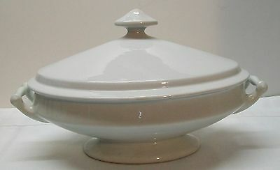 Footed Covered Casserole Imperial Ironstone China Cockson Chetwynd Lion Unicorn