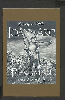 Nostalgia Postcard Film Poster Joan of Arc-Maid of Orleans' 1948