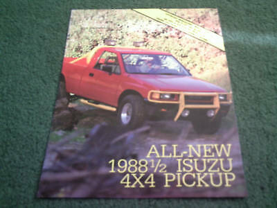 1988 / 1988.5 / 1989 Isuzu 2WD 4WD 4x4 PICKUP - USA FOLDER BROCHURE Pick-Up