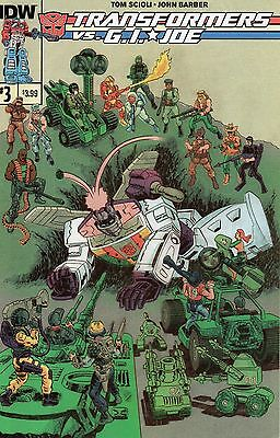 Transformers Vs GI Joe #3 (NM)`14 Scioli/ Barber