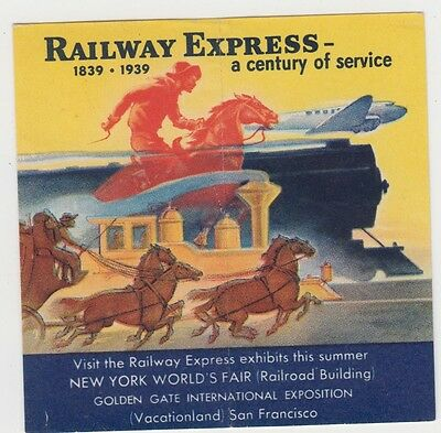 "Stamp USA 1939 ""Railway Express"" New York World's Fair Cinderella issue"