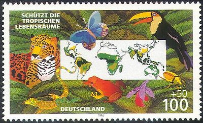 Germany 1996 Leopard/Toucan/Frog/Butterfly/Wildlife/Nature/Cats/Birds 1v n19464