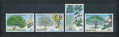 St.Lucia #649 - 52 MNH, Species of Trees, 1984