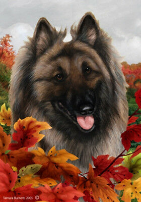 Large Indoor/Outdoor Fall Flag - Belgian Tervuren 13083