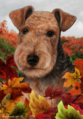 Large Indoor/Outdoor Fall Flag - Lakeland Terrier 13234