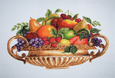 New Finished Completed Cross Stitch - Fruits - 11CT - F17a