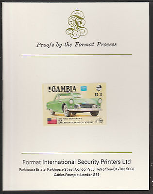 Gambia (536) 1987 Ameripex MERCEDES imperf on Format International PROOF  CARD