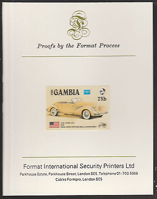 Gambia (539) 1987 Ameripex CORD imperf on Format International PROOF  CARD