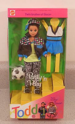 Barbie - Party 'n Play TODD Doll Twin Brother of Stacie (1992) RARE