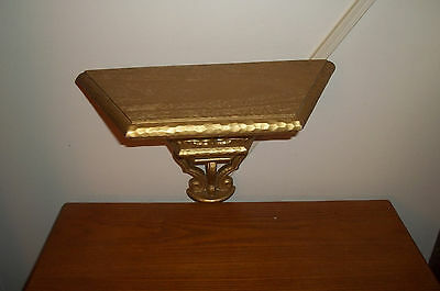Wooden Home interior Wall Shelf Gold Ornate