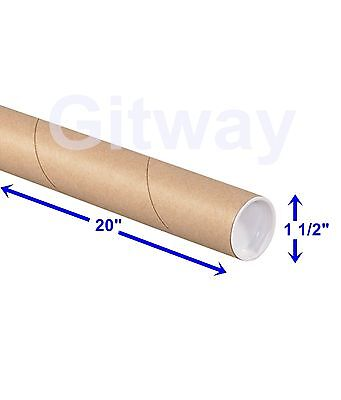 """1 1/2"""" x 20"""" Cardboard Poster Shipping Mailing Mail Packing Postal Tube 50 Tubes"""