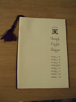 """1937 Booklet~""""THROUGH EIGHT REIGNS""""~Hooper The Kings COACHBUILDERS~1975 REPRINT~"""