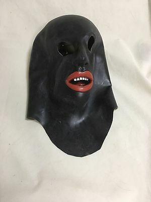 Deluxe Realistic Latex Rubber Hood Mask Open Mouth And Eyes with Teeth Halloween