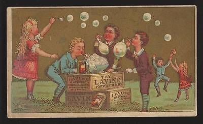 Lavine Washing Compound, Hartford Chemical Co. - Blowing Bubbles