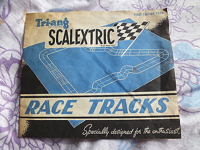 Tri-ang Scalextric Race Tracks.  First Edition 1960
