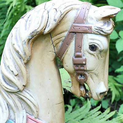 Gorgeous Antique German Carousel Horse 1880 Solid Wood - Orginal Painting