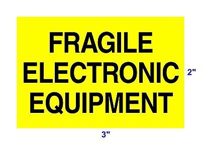 "2"" x 3"" Roll of 500 Fragile Electronic Equipment Labels Package Warning Stickers"