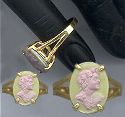 Smaller CAMEO from Georgian Tassie Intaglio: ROMAN EMPEROR 7.25 RING 18k VERMEIL