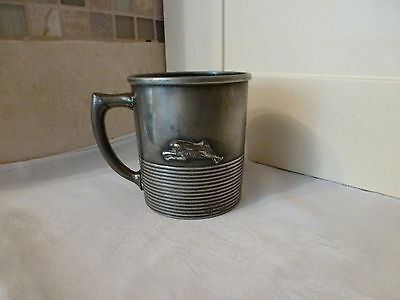 Antique Reed & Barton Plated Hare & Hounds Hunting Mug
