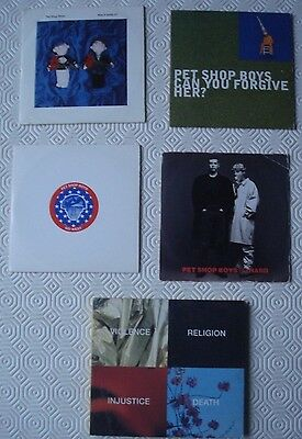 5 x Pet Shop Boys CD singles