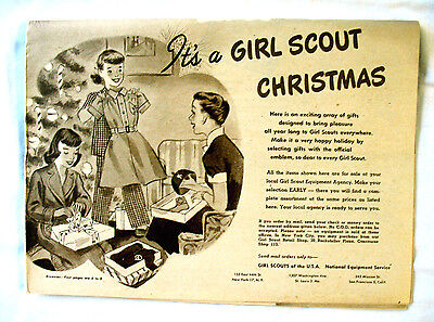 CATALOG Girl Scout CHRISTMAS 1950, RARE New Old Stock Gifts Clothing Dolls Camp