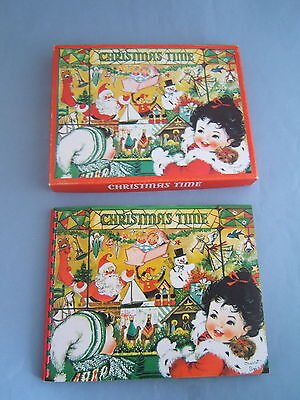 Vintage 50's Children's Rare CHRISTMAS TIME Pop-Up Activity Book Byj