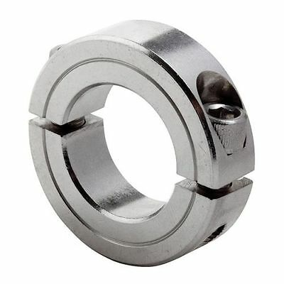 Qty 1 1/4 In, 2C-025-S Shaft Collar, Clamp, 2Pc,  SS CLIMAX METAL PRODUCTS