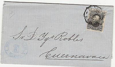 Mexico 1875 10 Cents On Letter To Cuernavaca (10)