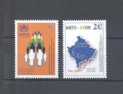 Kosovo 2004 Sc# 18-19 Return Of Refuges/five Years Of Peace Mnh Very Fine