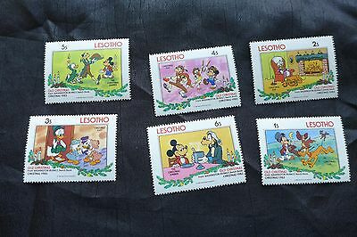 Lot of 6 Lesotho Disney Stamps issued in 1983 MNH